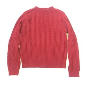 Vintage petite Sweater PS Women's red colorway